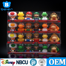 7cm Super Mario Bros Luigi Yoshi Friend Toys Figure Figurine Set Spray Toys Cake Topper x 6 pcs
