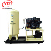 Piston compressor air cool condenser unit with 280CFM 508PSI 120HP 8m3 35bar 88kw air compressor