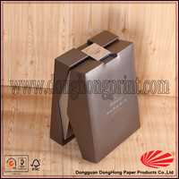 Wine industry use color printing cardboard box with slot