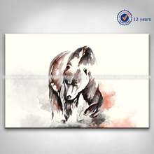 Abstract Hand-painted Watercolor Effect Animal Modern Canvas Painting