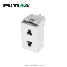 Futina H100 series plug socket 24mm 16A 250V 2 pins Euro American socket