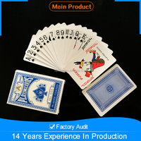 100% plastic coated playing card , Professional Customized plastic playing cards