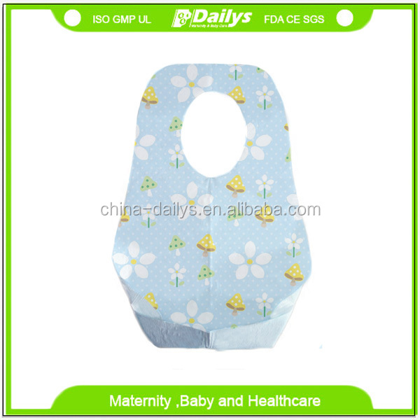 2016 OEM Service Supply Printed Disposable baby bibs