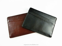 Fashion Colorful Durable Credit Card Holder Universal Business Leather Card Holder with 3 Card Slots