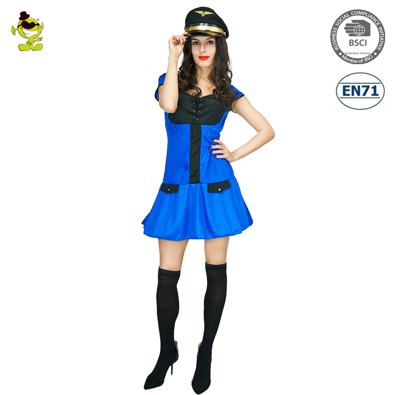 Halloween Carnival Party Cheap sexy girl police women dress uniform costume