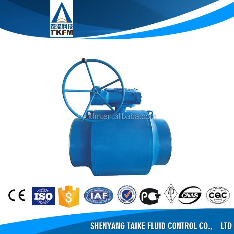 Heating system forged stainless steel Trunnion Mounted Fully Welded Ball shut off valves, boiler blowdown control valve