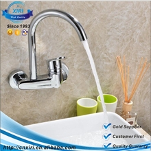 Fashion Brass Kitchen Mixer Tap 1 Holes Single Handle Kitchen Faucets Wall Mounted Basin Faucet XR-B0321