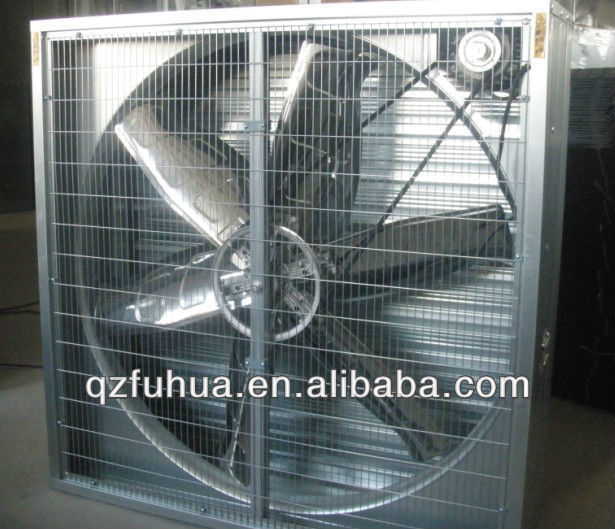 Wall mounted auto exhaust equipment for poultry farming