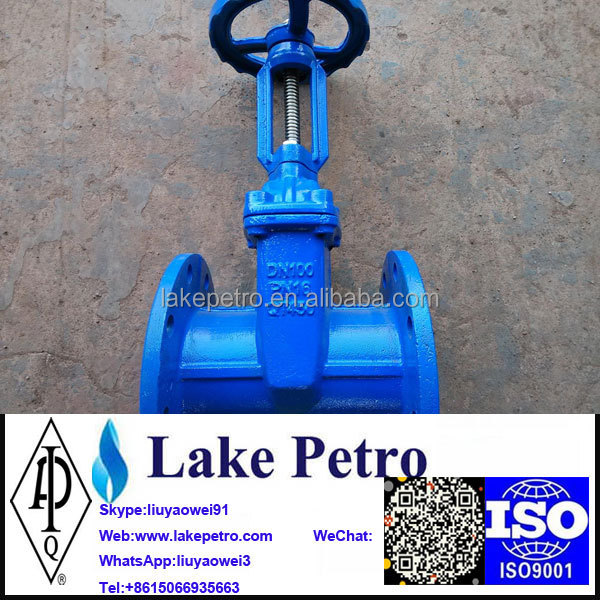 Flange Gate Valve dn100 used oil and gas
