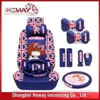 Competitive price special printing car seat head rest cover