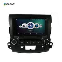 iokone Android 4.4 Car DVD GPS Navigation System Mini Link Bluetooth Wifi for MITSUBISHI OUTLANDER 2006-2012