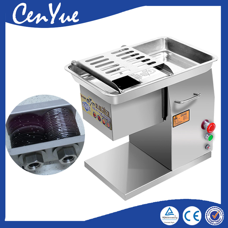 CE 250KG/H commercial electric meat slice cutter, beef cutting machine, chicken meat cutter