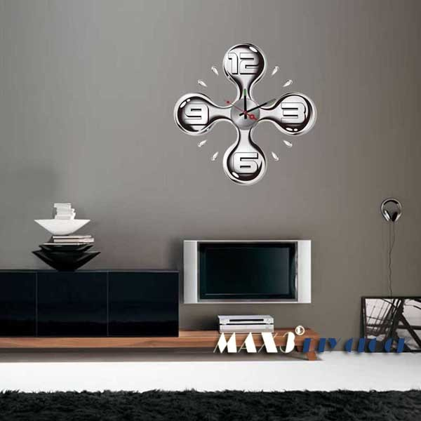 Customize Wall Clock DIY Expression Windmill Wall Clock Sticker Wall Art Clock