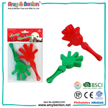 Christmas mini toys cheap cute plastic hand clappers