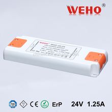 Plastic shell enclosed constant voltage led driver 220v ac 12v dc power supply