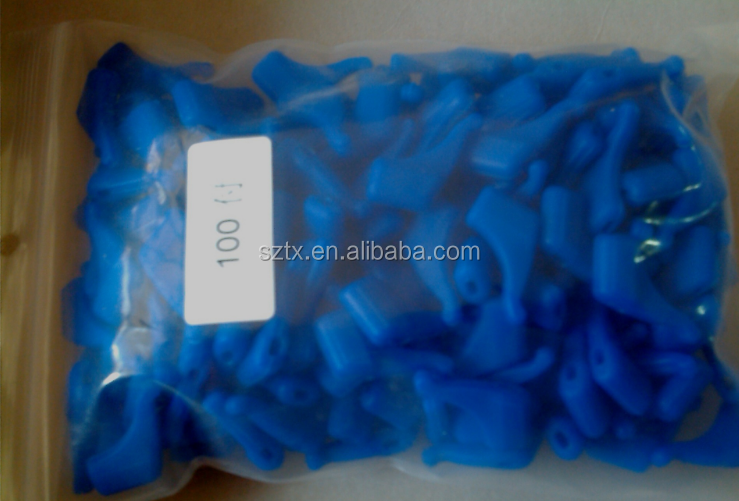 20mm BLUE silicone no-slip eyeglasses temple tips