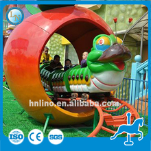Discount hot amusement electric train ride on toy apple for sale