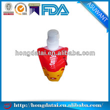 hot summer coming plastic filling liquid stand up pouch with spout
