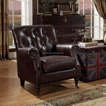 Classic Genuine Leather Sofa/Italian Replica Leather sofa/American Chesterfield Leather Chair