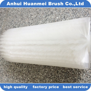 Small soft nylon bristle cleaning roller brush