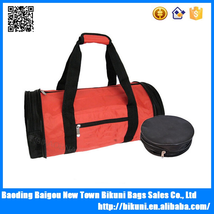 New design round shape fashion foldable travel bag from China