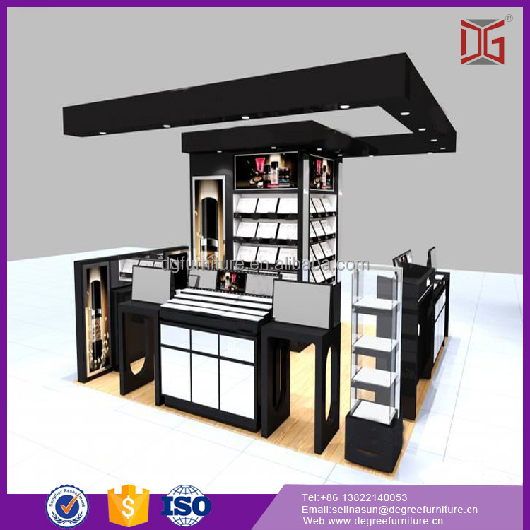 Superior Shopping Mall Wooden Cosmetic Kiosk Products Sale