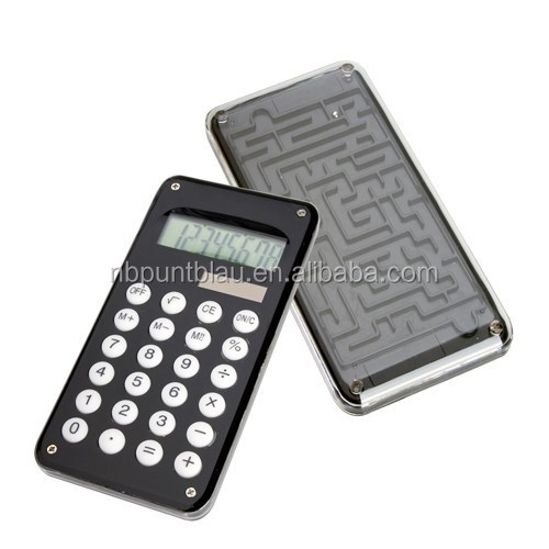 Promotional digital calculator with daedal-game