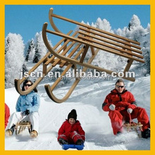 2015 foldable wooden sled snow sledge