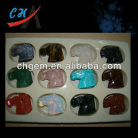 wholesale gemstone animal carvings horse head