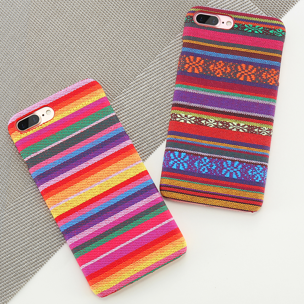 Bohemian Style Phone Case For iPhone 6 6S 7 Plus 5 5S SE Exotic Folk Traditional Cloth Fabrics Back Cover For iPhone 6 i 7 Case (9)