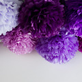 12 all purples handmade tissue paper pompoms set wedding party decor
