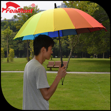 "Advertising 30""*24K promotional rainbow straight umbrella for sun/rain"