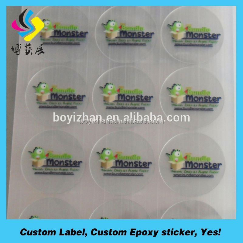 Custom Printed Self Adhesive Cosmetic Jar Transparent Label, Adhesive Transparent Label For Cosmetic Jar
