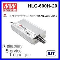 Meanwell HLG-600H-20 600W 20V 28A with IP65 IP67 LED Switching Power Supply