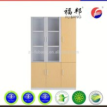 High quality modern furniture sliding glass two roller door steel office lockable filing cabinet