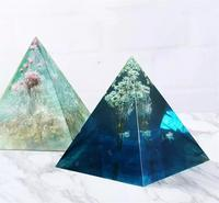 Pyramid Shape Silicone DIY Handmade Resin Mold For Necklace Pendant