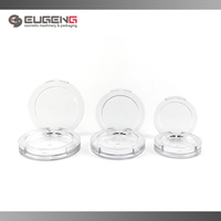 round empty clear plastic compact powder container for wholesale