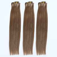 100% real hair straight ombre kinky clip in hair extensions