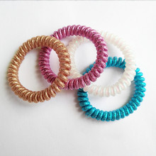 5.0 New Arrival Magic Fashion Traceless HairRing ,Telephone Wire Line Hair Ties Elasti