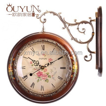 European Style Hand-painted Double Sided Wholesale Wall Clock