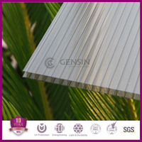 China manufacturer 4mm/6mm/8mm/10mm twin-wall polycarbonate hollow sheet/pc roofing material/pc awning