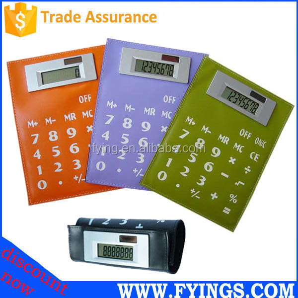 leather electronic folding calculator OEM