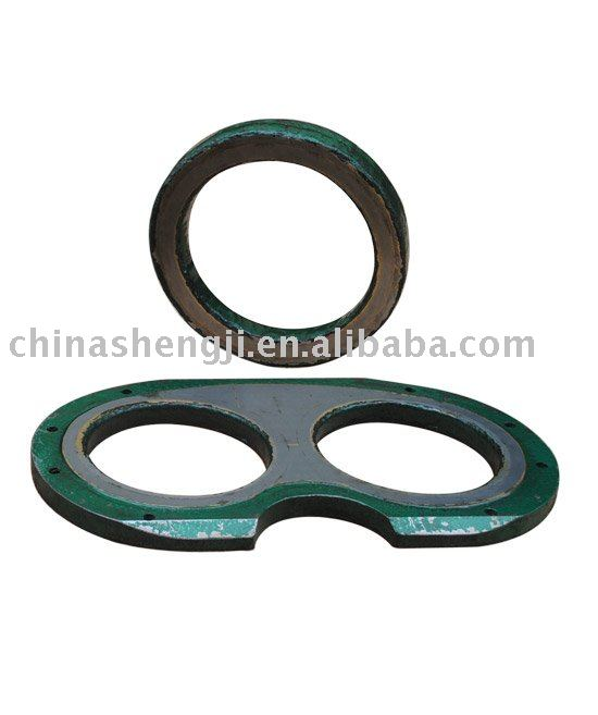 Schwing wear plate and cutting ring for concrete pump truck