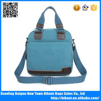 Suitable for men and women blue canvas shoulder messenger handbag
