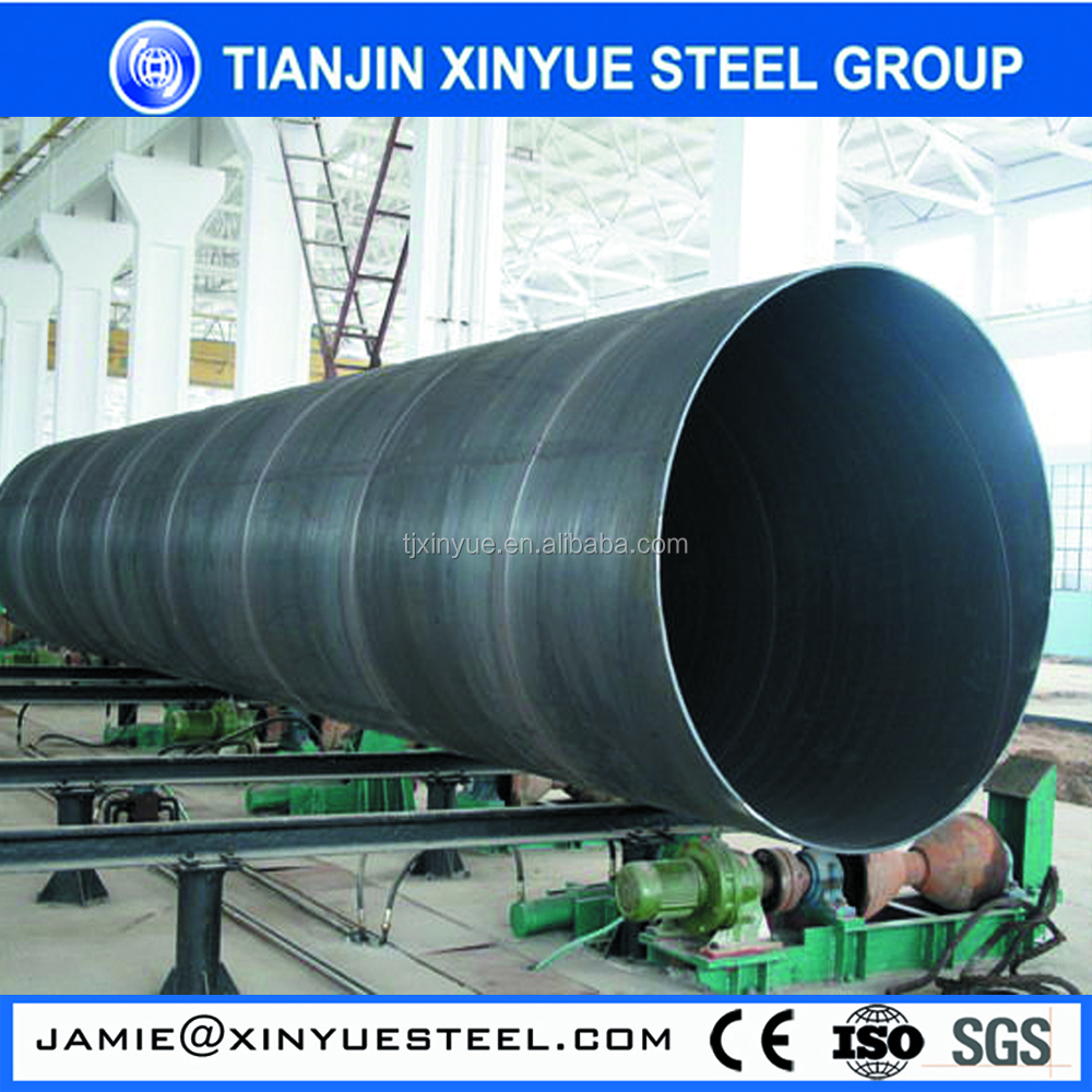 Hot sales! API 5L Gr.b welded round q345 e stainless spiral steel tube/pipe with or without flangs