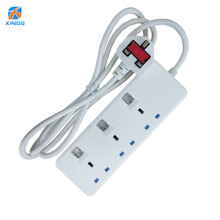 CE ROHS Certificates UK 3Way Surge Protector Outdoor Extension Cord Switch