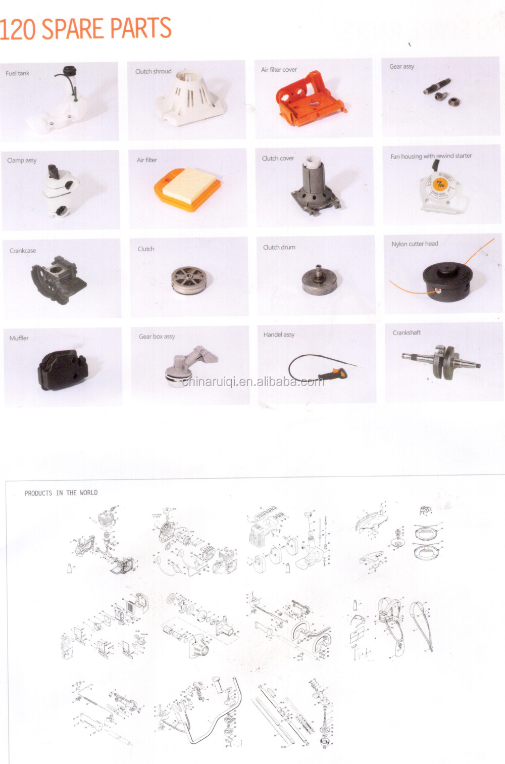 72.2cc 3.6KW 038 380 381 Chainsaw Crankshaft of MS381 MS380 MS038 Chainsaw Spare Parts