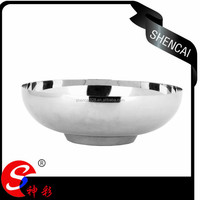 Single wall tableware stainless steel smalll flat bottom round bowl