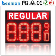 Leeman outdoor led gas station price sign petrol digital, outdoor led petrol price sign board