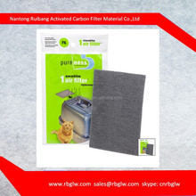 Replacement Air Filter for Enclosed Litter Pan with activated carbon charcoal and zeolite air filter